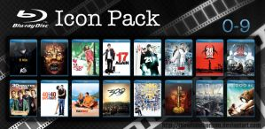 Blu-ray Icon Pack 0-9 by thewholehorizon