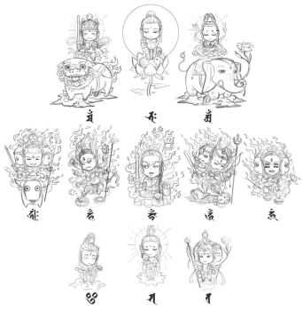 [rough sketch]Buddhist god (SD version) by Sgt-lonely