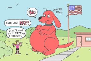 Clifford Goes To School by brain3times3