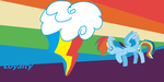 Rainbow Dash Wallpaper by mommamia51