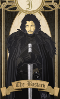 I. The Bastard - Jon Snow by armageddonwc