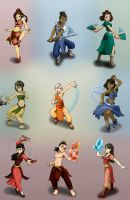 Atla Avatar and co. by Bizmarck