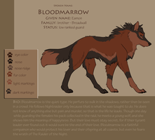 bloodmarrow ref by DawnFrost