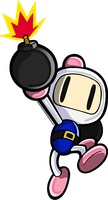 The White Bomberman by CaitlinTheStarGirl