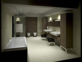 Bathroom Viz - Night - 1 by zipper