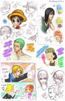 One Piece Doodles by mlle-annette