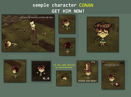 CONAN Don't Starve character by Foxygene