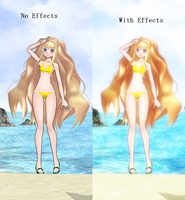 [MMD] No Effects - Effects (Comparison) by Asa-Chi