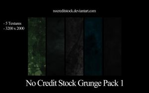 No Credit Stock Grunge Pack 1 by chadtalbot