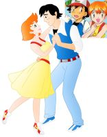 Disney style Romance: Ash And Misty by Willemijn1991