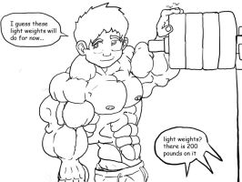 light weights-A 2009 drawing- by hearmenowu2
