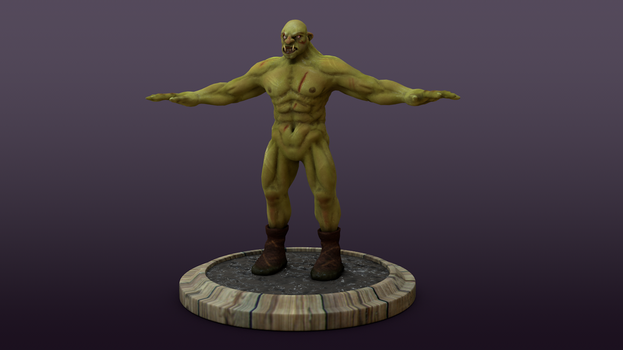 Orc Warrior (game-ready model) by BatzStudio