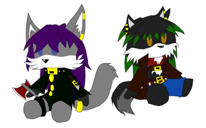 :GIFT: Winter and Zeth Dolls by MonsterWolf74