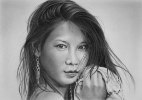 Pencil portrait of Young by LateStarter63