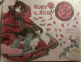 Ruby Rose Drawing by SetoKurumiLaw