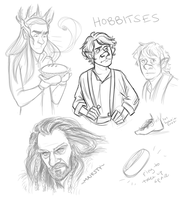 Hobbity doodles by pai-draws