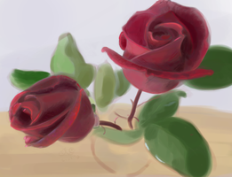 Thank You roses by CaliforniaClipper