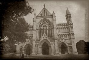 St. Albans Cathedral - Vintage by SteffiSTEREO