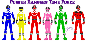 Power Rangers Time Force by Ameyal