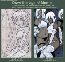 Draw this Again meme by Shabazik