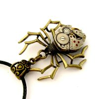 Clock Spider necklace by SteamSect