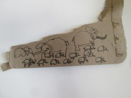 Elephants Recycled on Chinese Cardboard by DVanDyk
