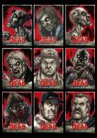 Walking Dead Comic Book Sketchcards 3 by Guy-Bigbelly