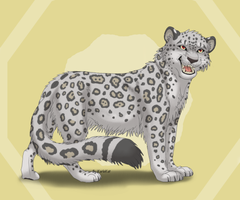 Snow leopard for Rukiawolf by KarleKat