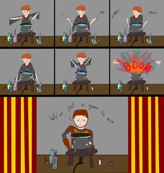 How Ron Prepares for Quidditch by Falling-stars-1