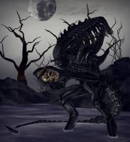 predalien in the swamp by lordLKkamikaze
