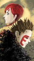 Father and Son (Gaara X Shinki) by craziephase