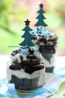 Dark Chocolate Cake In Jars by theresahelmer