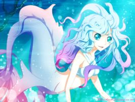 Mermaid of the blue sea by Kohane-hime