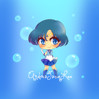 Sailor Mercury Sticker by AndreaJacqLee