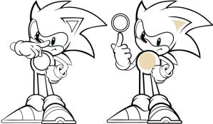 sonic the hedgehog left of right by Dee9922
