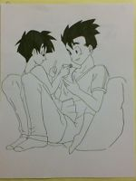 Gohan and Videl 2 by Sketchy-76
