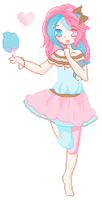 [ Cotton Candi Full Body Pixel ] by ATEL1ER