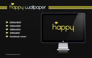 Bee Happy Wallpaper by HAZARDOS