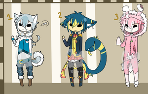 Human Adoptables Batch 1 : C L O S E D : by Sweet-n-treat