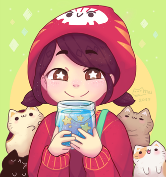 Mineko's Night Market fanart! by kururuart