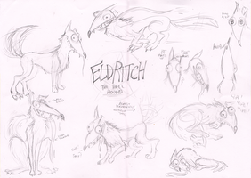 Eldritch the Hell Hound Model Sheet by TopperHay
