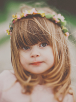 Floral Head Baby girl by Mira-Heart