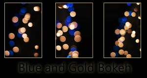 Blue and Gold Bokeh Stock by LifeWithARedhead