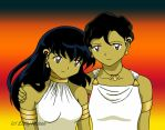 TOTD Color: Kagome + Mom by DarkGeminiLily