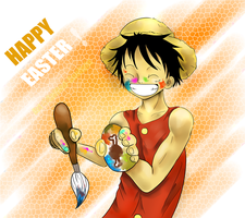 .Easter Luffy. by Spilled-Sunlight