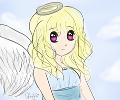 Angel Sketch~~ by CopicUser101
