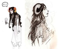 Aradia sketches by Krzeslo-H