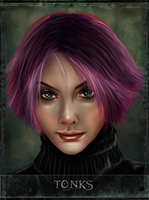 Tonks - tarot series by Patilda