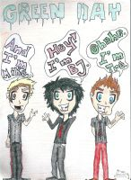 The golden three of Green Day by Diamond-Racer
