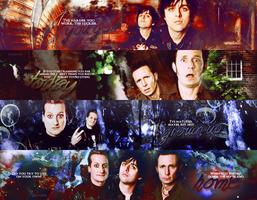 4 Green Day banners by sasha9892